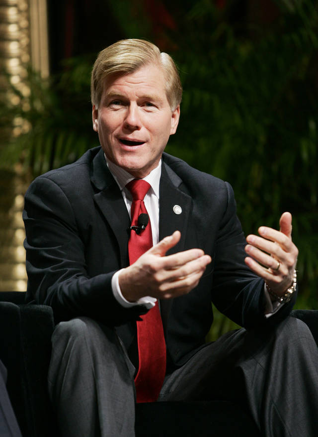 Republican Governors Association Chairman and Virginia Gov. Bob McDonnell speaks during a panel discussion at the 2012 RGA Annual Conference at Encore hotel-casino Thursday, Nov. 15, 2012, in Las Vegas. Top Republicans meeting for the first time since Election Day say the party failed to unseat President Barack Obama because nominee Mitt Romney did not respond to criticism strongly enough or outline a specific agenda with a broad appeal. (AP Photo/Ronda Churchill)