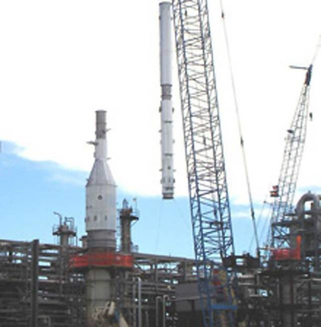 Matrix Service was selected to fabricate and deliver a 100-foot hydrogen sulfide stack to Suncor�s Commerce City, Colo., facility. Photo provided