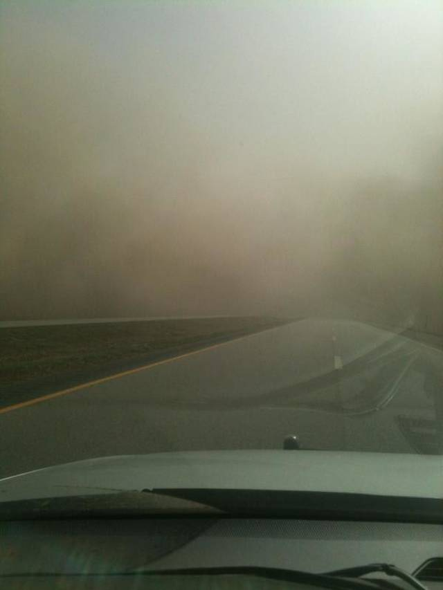 Interstate 35 near Blackwell, exit 222. Photo provided by Blackwell police department <strong> - Photo provided by Blackwell poli</strong>