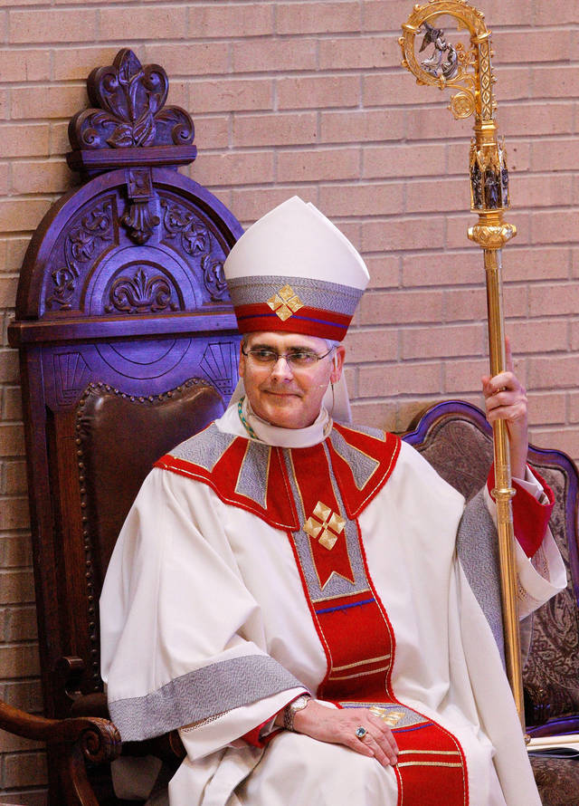 Archbishop Paul S. Coakley <strong>JIM BECKEL - THE OKLAHOMAN</strong>