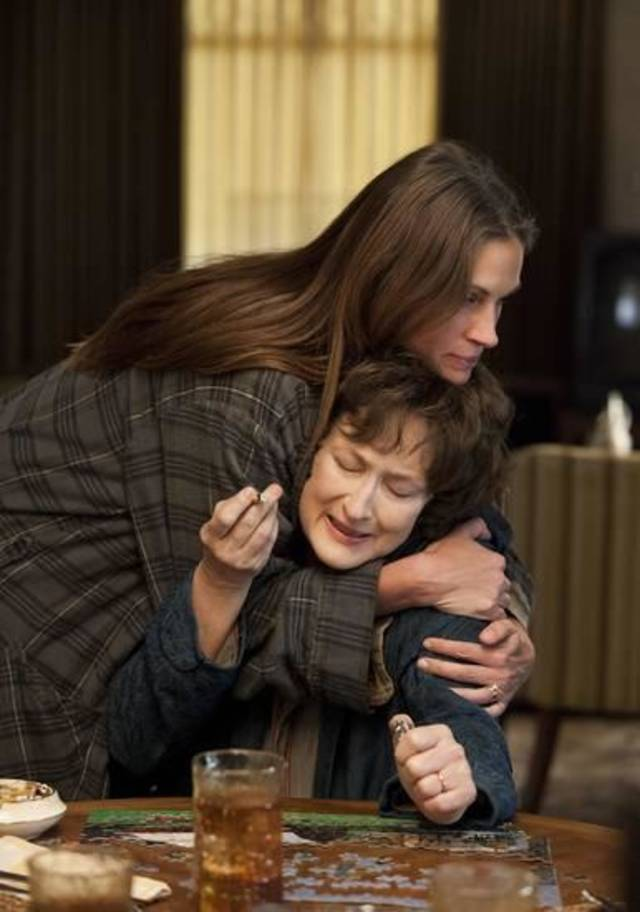 "Julia Roberts and Meryl Streep both won Oscar nominations for the Oklahoma-produced film ""August: Osage County."""