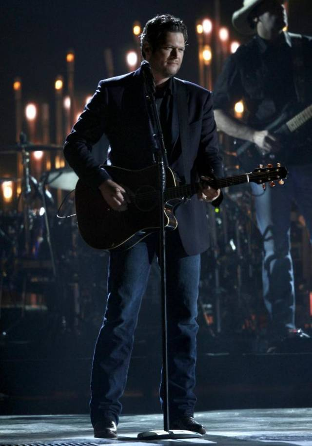 Blake Shelton performs at the CMA Awards earlier this month. (AP file)