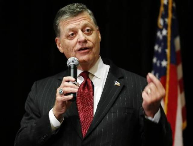 Rep. Tom Cole speaks during the Oklahoma GOP watch party in Oklahoma City on Election Day, Tuesday, Nov. 6, 2012. Photo by Sarah Phipps
