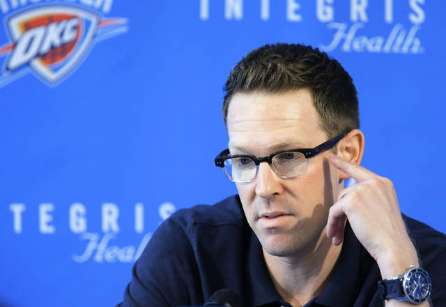 Thunder general manager Sam Presti is hooked on VH1's music documentary series 'Classic Albums.' Photo by Sarah Phipps, The Oklahoman