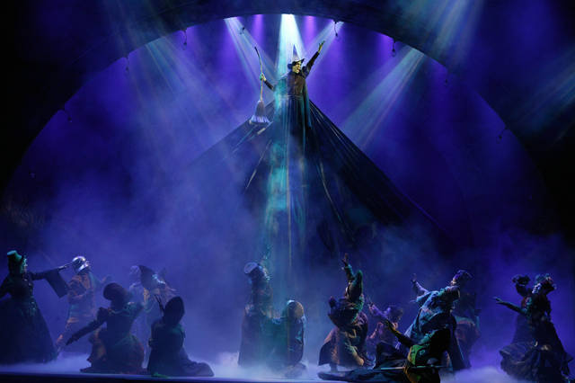 "Jennifer DiNoia as Elphaba in ""Wicked"" sings ""Defying Gravity."" PHOTO PROVIDED."