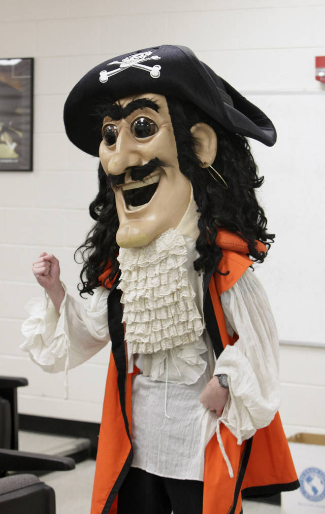 "High school junior Graham Hudson, 16, competes in Putnam City High School's ""Talk Like a Pirate"" contest in Oklahoma City Tuesday, Sept. 21, 2010. Photo by Paul B. Southerland, The Oklahoman"