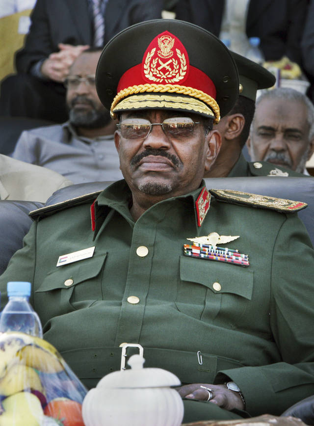 FILE - In this Wednesday, March 4, 2009 file photo, Sudanese President Omar al-Bashir attends a graduation ceremony at an air force academy near Khartoum, Sudan. Former Liberian President Charles Taylor is part of a long parade of leaders guilty or accused of similar, and in some cases far more appalling, crimes in modern history. Here is what happened to some: Omar al-Bashir: the ICC accused the Sudanese president of orchestrating genocide, crimes against humanity and war crimes in Darfur and issued an arrest warrant for him. However, he remains free in Sudan, which is locked in hostilities with South Sudan. The U.N. estimates 300,000 people died and 2.7 million were displaced in the Darfur conflict. (AP Photo/Abd Raouf, File)