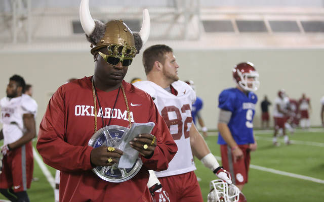 OU assistant coach Jay Boulware as Flavor Flav.