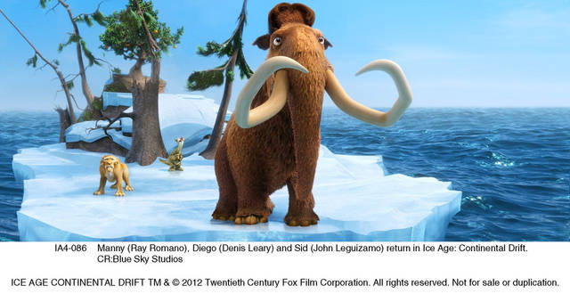 Denis Leary, Ray Romano and John Leguizamo return in �Ice Age: Continental Drift.�  IMAGE PROVIDED BY Blue Sky Studios