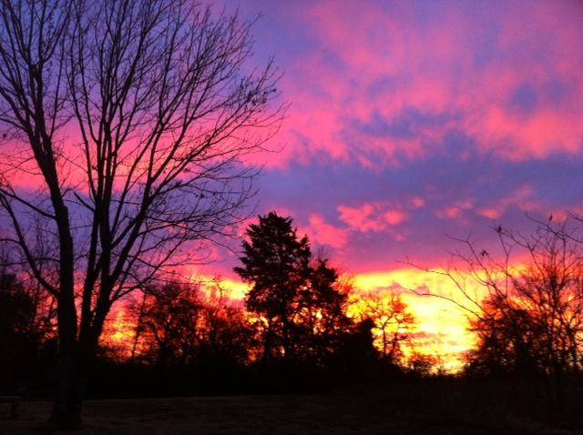 Sunrise in Edmond Wednesday morning - Photo by Stephanie Sallaska
