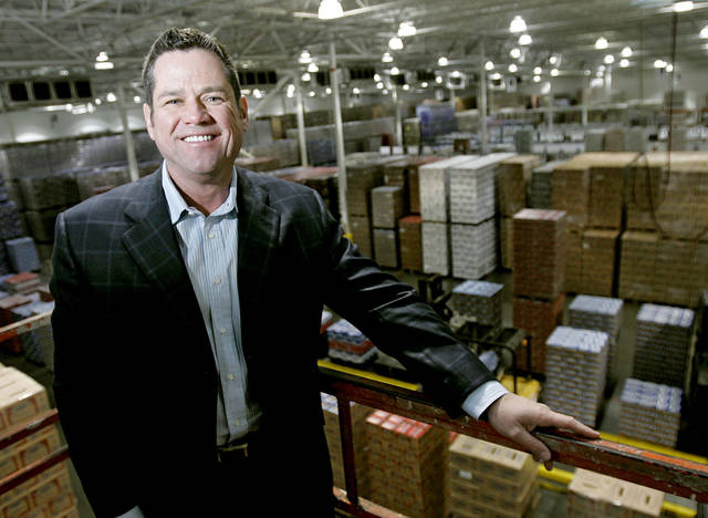 John Cresap, president of Premium Beers of Oklahoma, poses above the floor at the company's Oklahoma City offices on Wednesday, Feb. 20, 2008. By John Clanton, The Oklahoman
