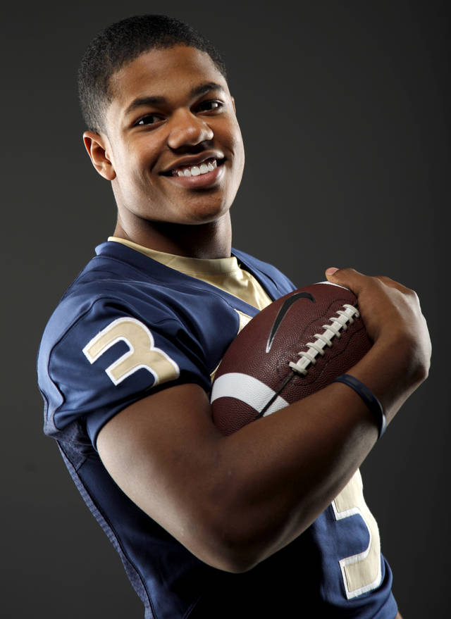 All-State football player Sterling Shepard, of Heritage Hall, poses for a photo in Oklahoma CIty, Wednesday, Dec. 14, 2011. Photo by Bryan Terry, The Oklahoman