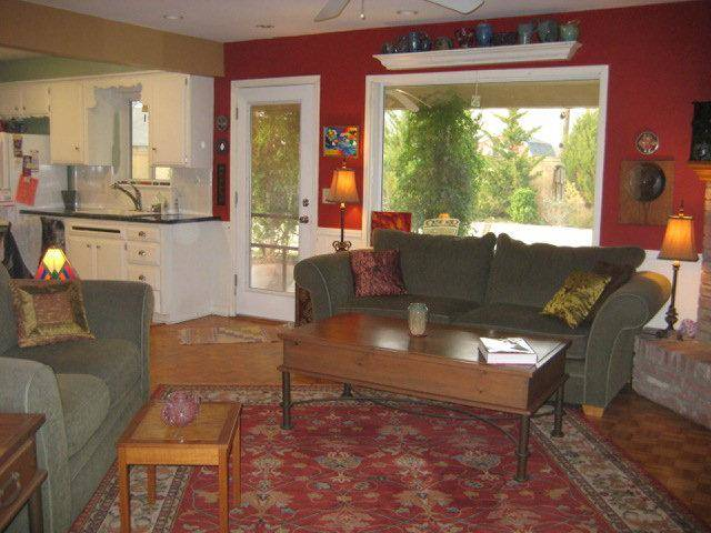 A red wall along the rear quadrant of your home, as seen here in Sunita Sitara's home, helps improve your social status and reputation, according to the tenets of Feng Shui design. Sitara is a Feng Shui consultant in Oklahoma City. Photo provided. <strong></strong>