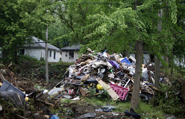 Detroit's Brightmoor neighborhood, seen in a Monday, July 1, 2013 photo, is the site of a major cleanup project spearheaded by the nonprofit Detroit Blight Authority. (AP Photo/Detroit Free Press, Andre J. Jackson) DETROIT NEWS OUT;  NO SALES