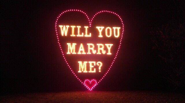 Couples who wish to get engaged may find a use for the new &quot;Will You Marry Me&quot; display as part of Yukon&#039;s Christmas in the Park. Photo provided. &lt;strong&gt;&lt;/strong&gt;