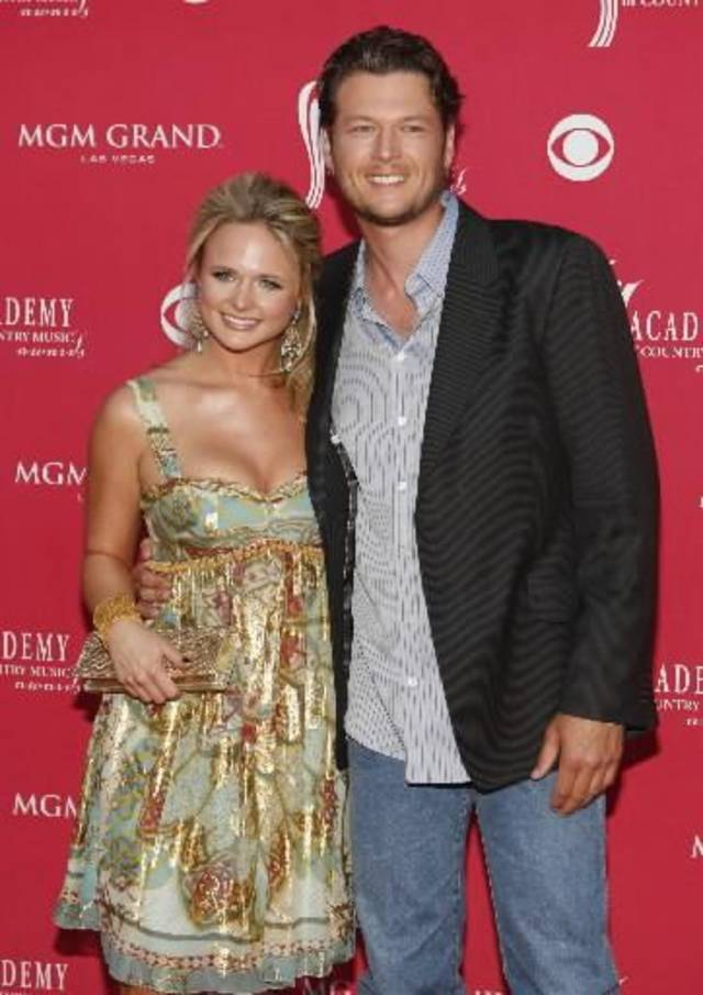 Blake Shelton and Miranda Lambert at 2008 Academy of Country Music Awards