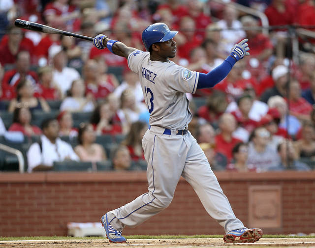 Los Angeles Dodgers' Hanley Ramirez hits a triple against the St. Louis Cardinals during the second inning of a baseball game, Wednesday, July 25, 2012, in St. Louis. (AP Photo/St. Louis Post-Dispatch, Chris Lee) EDWARDSVILLE INTELLIGENCER OUT; THE ALTON TELEGRAPH OUT