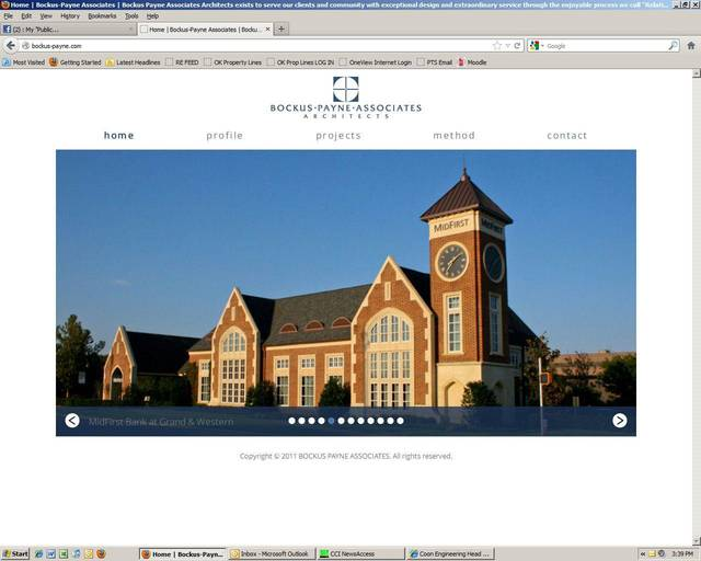 Bockus Payne Architects has a webpage but does not use social media, President Bruce Bockus says.