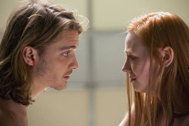 """TRUE BLOOD"" episode 66 (season 6, episode 6): Luke Grimes, Deborah Ann Woll. - Photo by John P. Johnson/Courtesy of HBO"