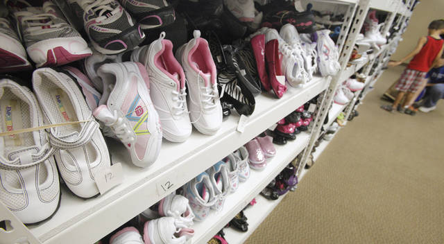 New shoes for foster children to select for school at Citizens Caring for Children in Oklahoma City Monday, July 23, 2012.  Photo by Paul B. Southerland, The Oklahoman