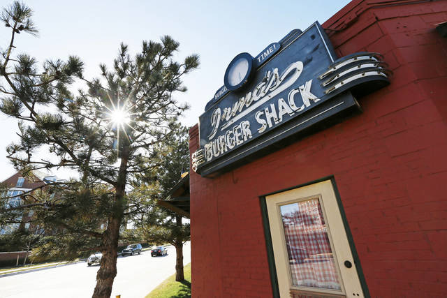 A view of Irma�s Burger Shack across the street from the Chesapeake Energy campus.
