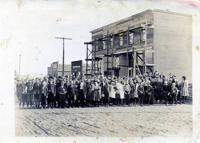 Children are seen at a school in Anadarko. The Anadarko School District now has a student population of about 2,000.  Photo courtesy of the Oklahoma Historical Society