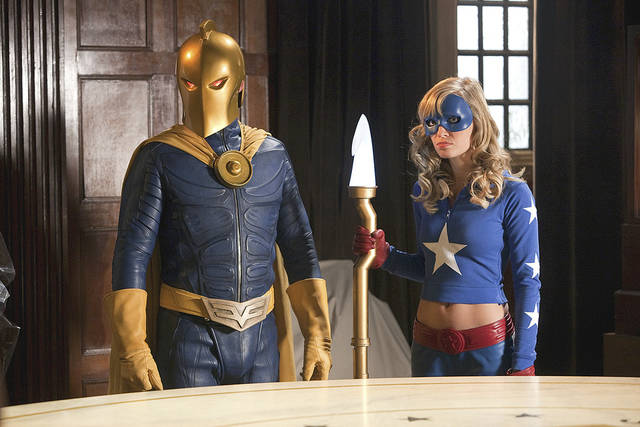 "Brent Stait as Doctor Fate and Britt Irvin as Stargirl on ""Smallville."" CW PHOTO"