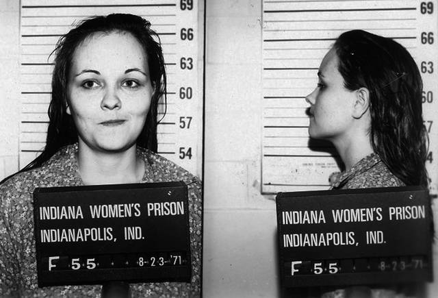 This Aug. 23, 1971 photo provided by the Indiana State Prison shows Paula Banizewski who has been suspended from her job a high school in Conrad, Iowa. Authorities said Tuesday, Oct. 23, 2012 that an anonymous caller identified Paula Pace, a teachers aide since 1998 at the high school, as Paula Baniszewski. Baniszewski is formerly from Indianapolis and a member of a family that tortured and murdered 16-year-old Sylvia Likens in 1965. (AP Photo/Indiana State Prison via the Waterloo Courier)