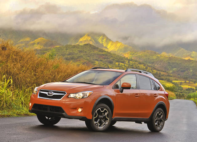 This undated image made available by Subaru shows the 2013 Subaru XV Crosstrek. (AP Photo/Subaru)