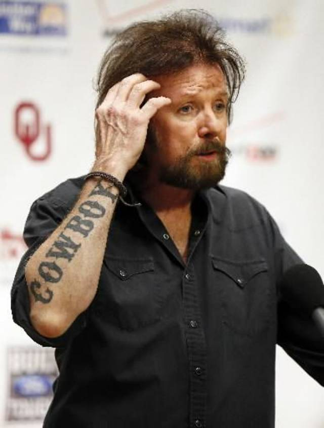 Ronnie Dunn talks with the media during the Oklahoma Twister Relief Concert, benefiting victims of the May tornadoes, at Gaylord Family - Oklahoma Memorial Stadium on the campus of the University of Oklahoma in Norman, Okla., Saturday, July 6, 2013. Photo by Nate Billings, The Oklahoman