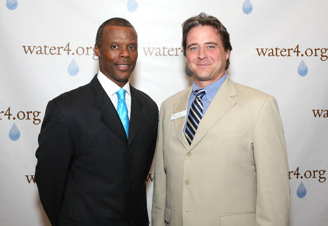 J.C. Watts, Chris Cotner.  PHOTO BY DAVID FAYTINGER, FOR THE OKLAHOMAN
