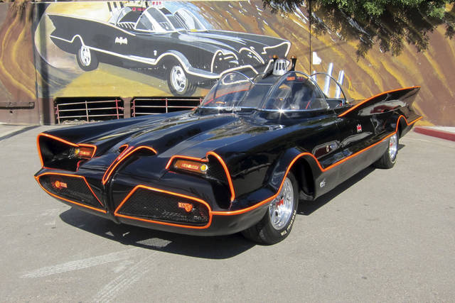 This October 2012 file photo provided by Barrett-Jackson/George Barris shows the original Batmobile in Los Angeles. Batman's original ride, from the 1960s TV series, has sold at auction for $4.2 million on Saturday, Jan. 19, 2013. (AP Photo/Courtesy Barrett-Jackson/George Barris, File)