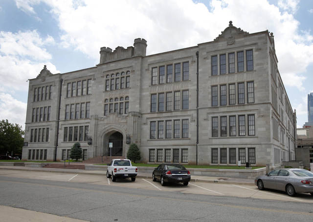 The old Central High School building is at 800 N Harvey in Oklahoma City. The Oklahoma City University Board of Trustees will meet Oct. 24 to consider plans to acquire the 177,000-square-foot building.  Photo By  Steve Gooch,  The Oklahoman