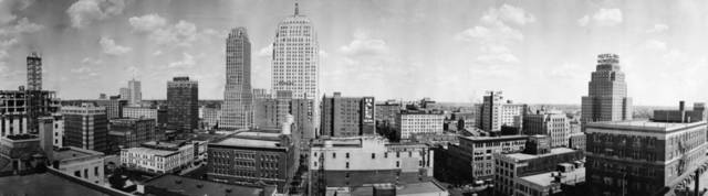 OKLAHOMA CITY / SKY LINE / OKLAHOMA:  No caption.  Original photo by Grant Ginter for Ginter Studios.  Photo undated and published on 09/27/1936 in The Daily Oklahoman and also 03/18/1951 in The Daily Oklahoman.