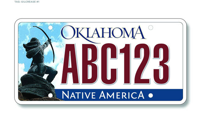 New Oklahoma license plate. Photo provided