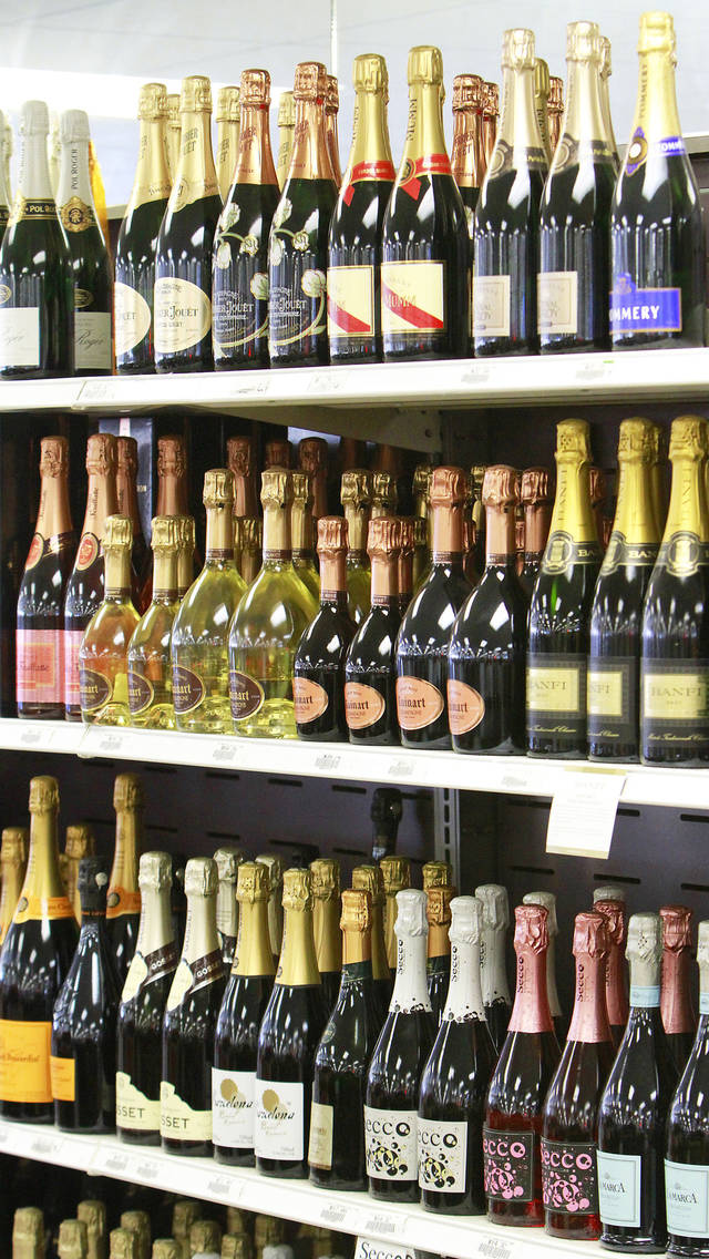 Champagne in the wine department in Byron's Liquor Stores, Wednesday, November 23, 2011.    Photo by David McDaniel, The Oklahoman