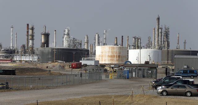 Above: An explosion at this refinery in Wynnewood killed two workers in September.