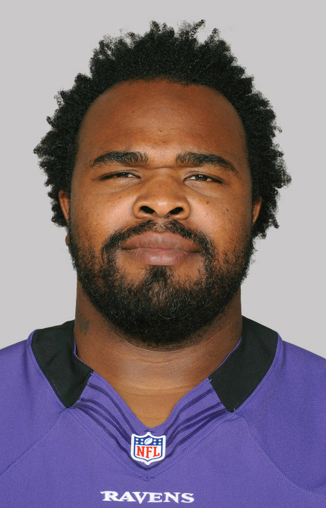 FILE - This 2012 file photo shows Bobbie Williams of the Baltimore Ravens NFL football team. For eight years, Bobbie Williams wore a Cincinnati Bengals uniform and tried his best to beat the Ravens. Now, in his first game with Baltimore, he goes up against _ you guessed it _ the Bengals. (AP Photo/File)