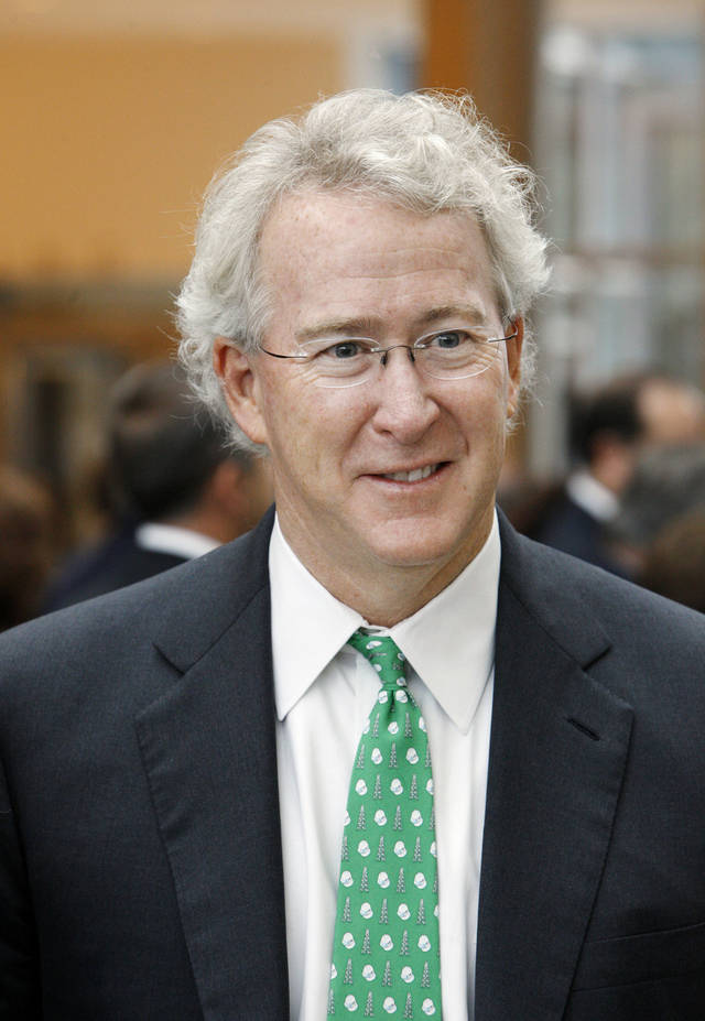 Aubrey McClendon, Chesapeake Energy Corp. CEO, attending the commemoration ceremony for the Devon Energy Center in Oklahoma City Tuesday, Oct. 23, 2012. Photo by Paul B. Southerland, The Oklahoman