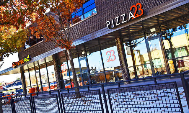 The new Orange Leaf and Pizza 23 restaurant located in the 600 block of NW 23 are shown in Oklahoma City. Photos by Chris Landsberger, The Oklahoman