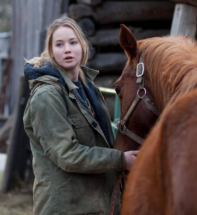 "In this film publicity image released by Lionsgate, Jennifer Lawrence is shown in a scene from ""Winter's Bone."" (AP Photo/Lionsgate) ORG XMIT: NYET519"