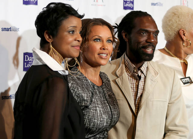 <p>IMAGE DISTRIBUTED FOR HARLEM'S FASHION ROW - From left, Brandice Henderson, Vanessa Williams, and designer Kevan Hall are seen at Harlem's Fashion Row 5th Anniversary Fashion Show, on Friday, Sept. 7, 2012 in New York. (Photo by Michel Leroy/Invision for Harlem's Fashion Row/AP Images)</p>
