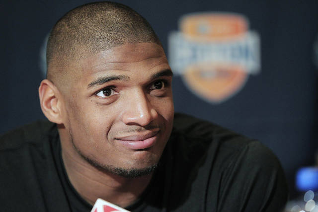 Former Missouri defensive end Michael Sam says he is gay, and he could become the first openly homosexual player in the NFL. (AP Photo/Brandon Wade, File)