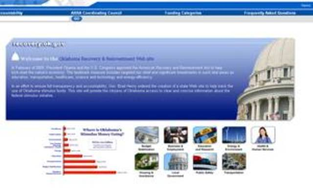 Oklahoma&#039;s current stimulus Web site. 