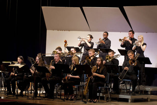 The Mustang High School jazz band performs a number during the SWOSU Jazz Festival over the weekend. Fourteen schools played during the festival including several from the Oklahoma City area. <strong>PROVIDED - PROVIDED</strong>
