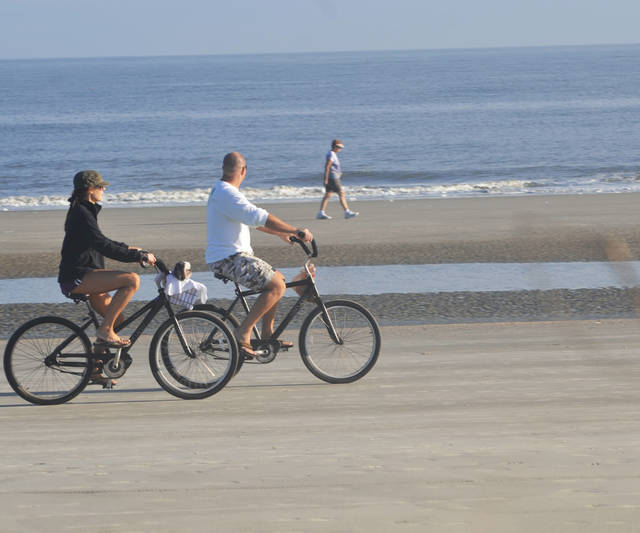 Biking is a popular way to get around Palmetto Dunes, a sprawling, 2,000-acre resort in South Carolina. Photo by Wesley K.H. Teo