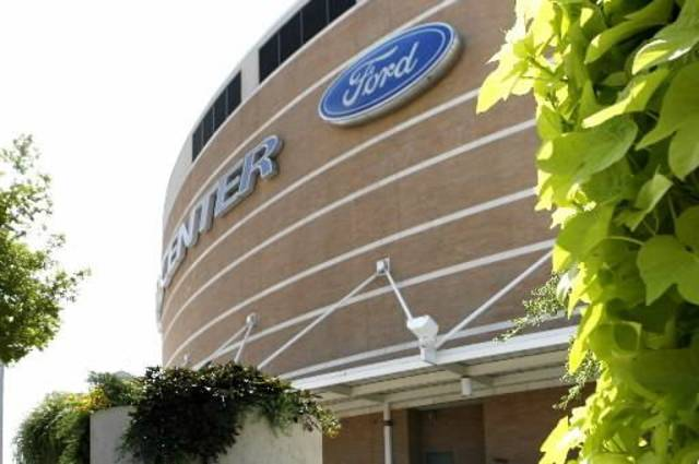 The Thunder have yet to trigger a naming rights deal for the  Ford  Center in Oklahoma City, OK, Friday, July 17, 2009. By Paul Hellstern