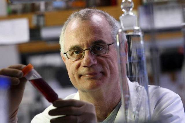 Mark Coggeshall, scientist at Oklahoma Medical Research Foundation, is searching for a treatment for anthrax. Photo by Steve Sisney, The Oklahoman archives. <strong>Steve Sisney</strong>
