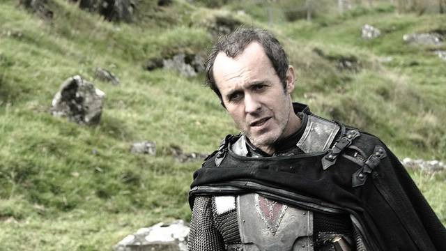 Stannis Baratheon, oh so serious.