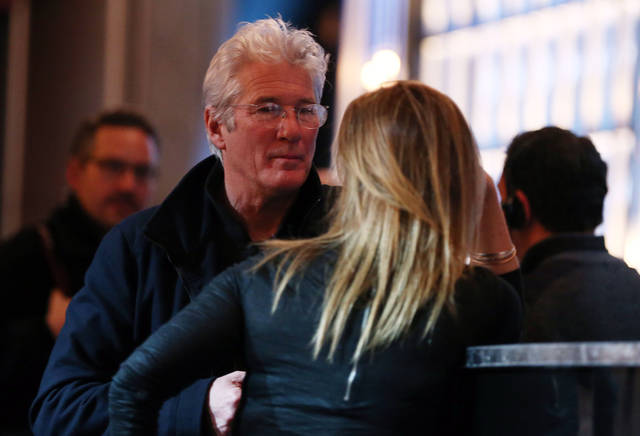 Actor Richard Gere, left, attends rehearsals for the 85th Academy Awards in Los Angeles, Saturday, Feb. 23, 2013. The Academy Awards are scheduled for Sunday, Feb. 24, 2013. (Photo by Matt Sayles/Invision/AP)